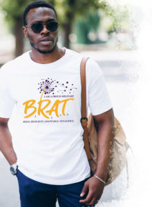 Man wearing a Brat t-shirt