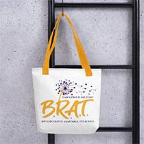 White Canvas Bag with BRAT logo