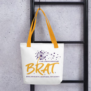 Canvas Tote with BRAT logo