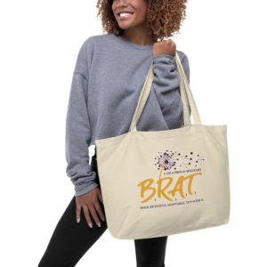 Brat Large organic tote bag