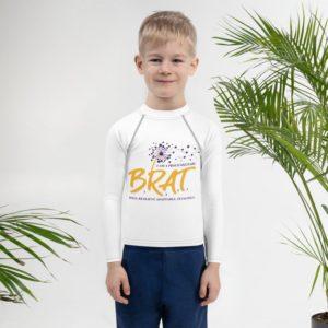 BRAT Kids Rash GuardLong Sleeve Shirt